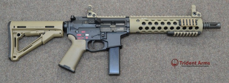 AR-9 Colt Pattern Alpha FDE Rail 10-5 Barrel SBR