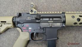 AR-9 Colt Pattern Alpha FDE Rail Close-up 2