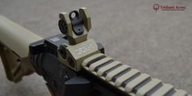 AR-9 Colt Pattern Alpha FDE Rail Close-up