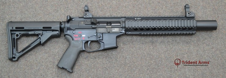 AR-9 Colt Pattern Bravo Rail 5-5 Barrel Suppressed SBR
