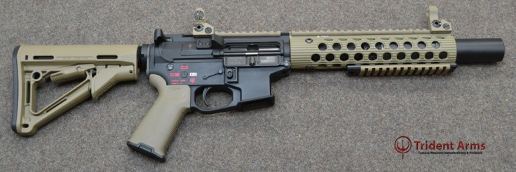 Colt Pattern Alpha FDE Rail 5-5 Barrel SBR Suppressed - thumb