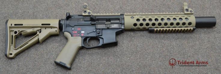 Colt Pattern Alpha FDE Rail 5-5 Barrel SBR Suppressed - thumb