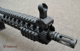 Colt Pattern Alpha Rail 10-5 Barrel SBR Closeup 2 - thumb