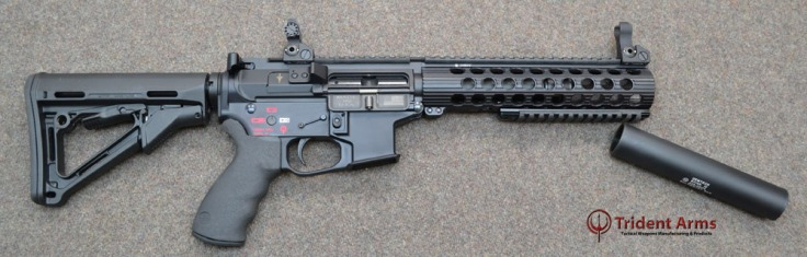 Colt Pattern Alpha Rail 5-5 Barrel SBR with Suppressor 2 - thumb