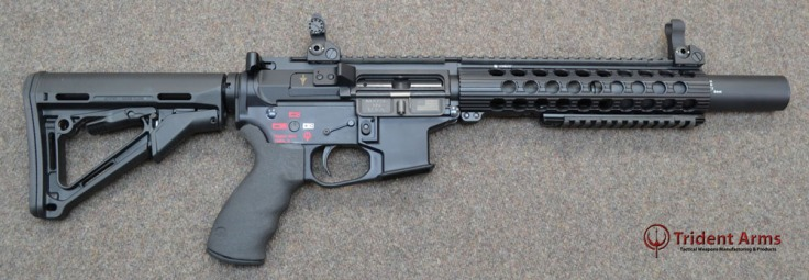 Colt Pattern Alpha Rail 5-5 Barrel SBR with Suppressor - thumb