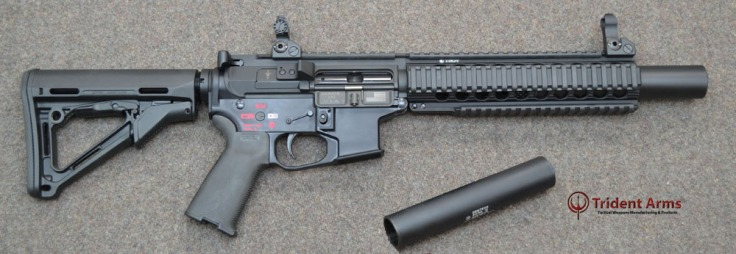 Colt Pattern Bravo Rail 5-5 Barrel Suppressed SBR - thumb main page